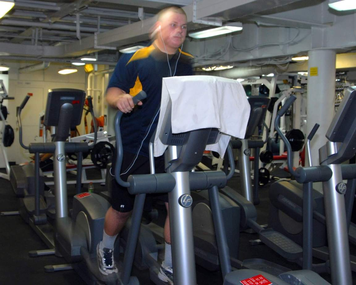 Man with Bad Knees working out on the Best Cushioned Treadmill