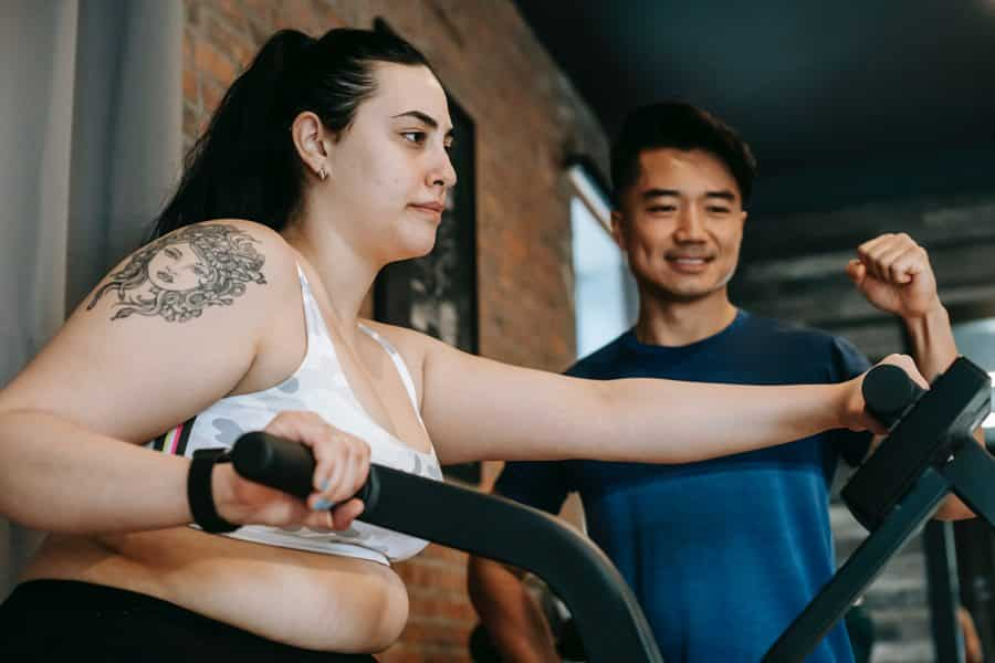 A heavy person should try to lose weight on a treadmill