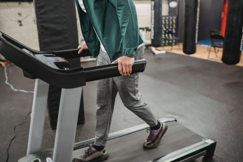 How do you absorb shocks from a treadmill?