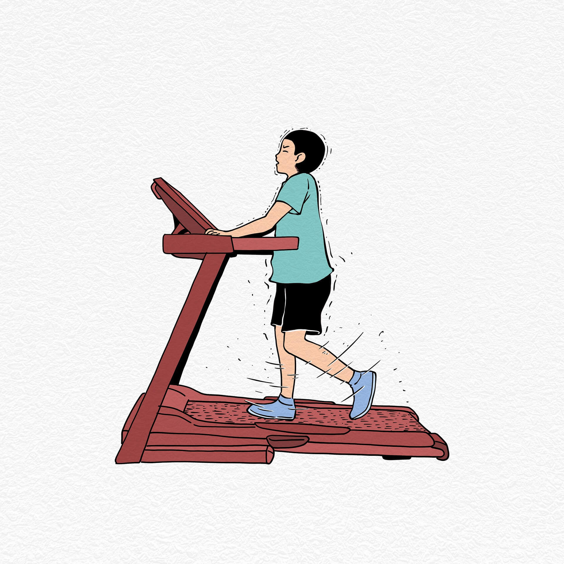 How do you absorb shocks from a treadmill