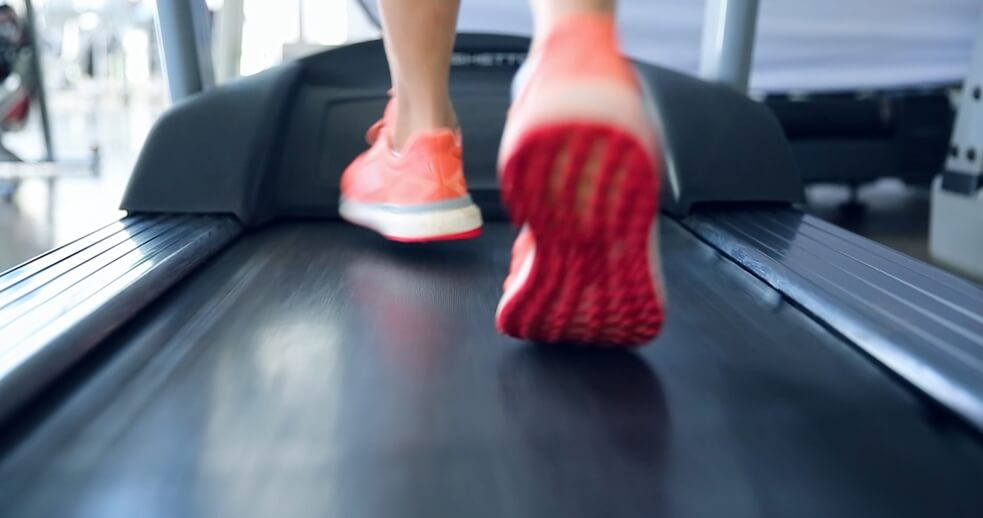 Person working out on the Quietest Treadmill for Home